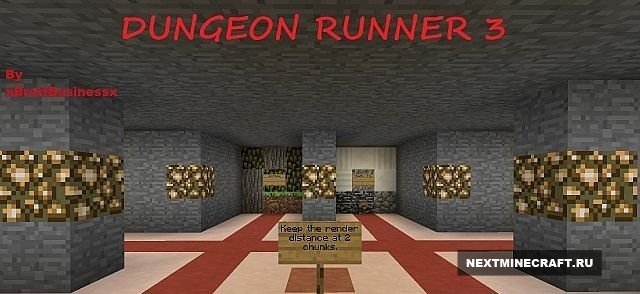 Карта Dungeon Runner 3 [Fast paced parkour]