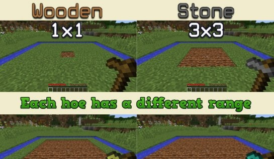 Мод Improved Hoes для Minecraft 1.7.10